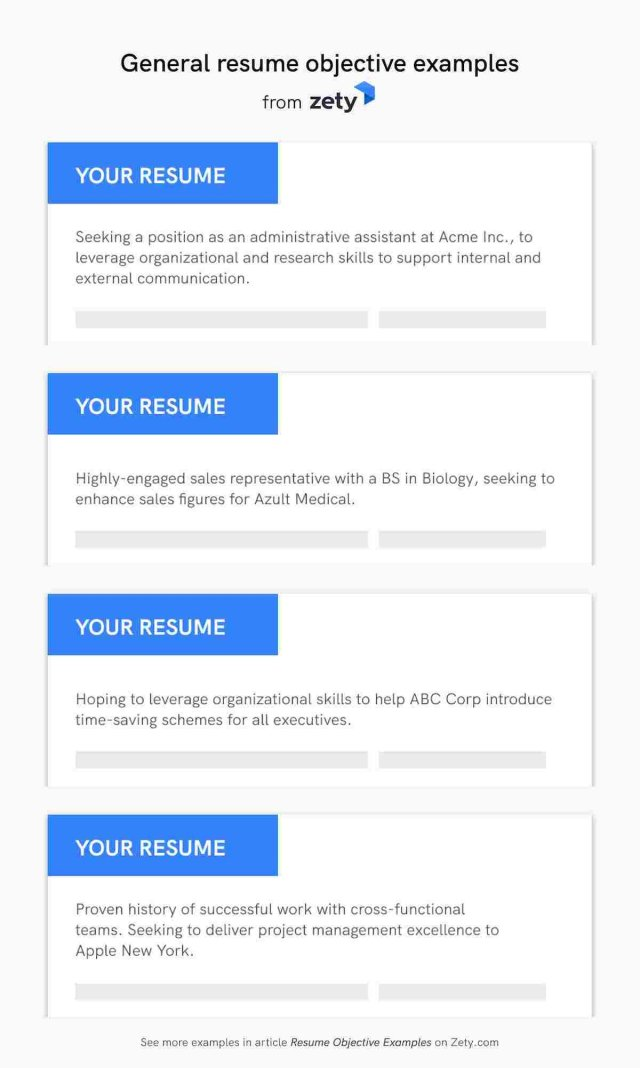 23+ Resume Objective Examples: Career Objectives for All Jobs