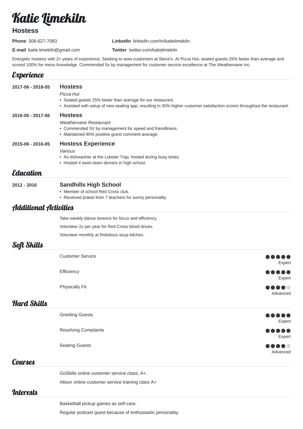 Hair Stylist Resume Samples And Full Writing Guide 20