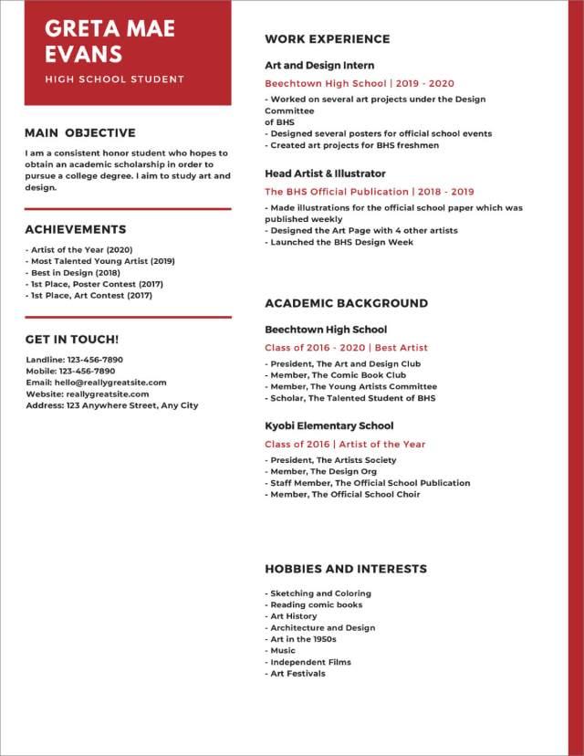 24+ High School Resume Templates [Download Now]