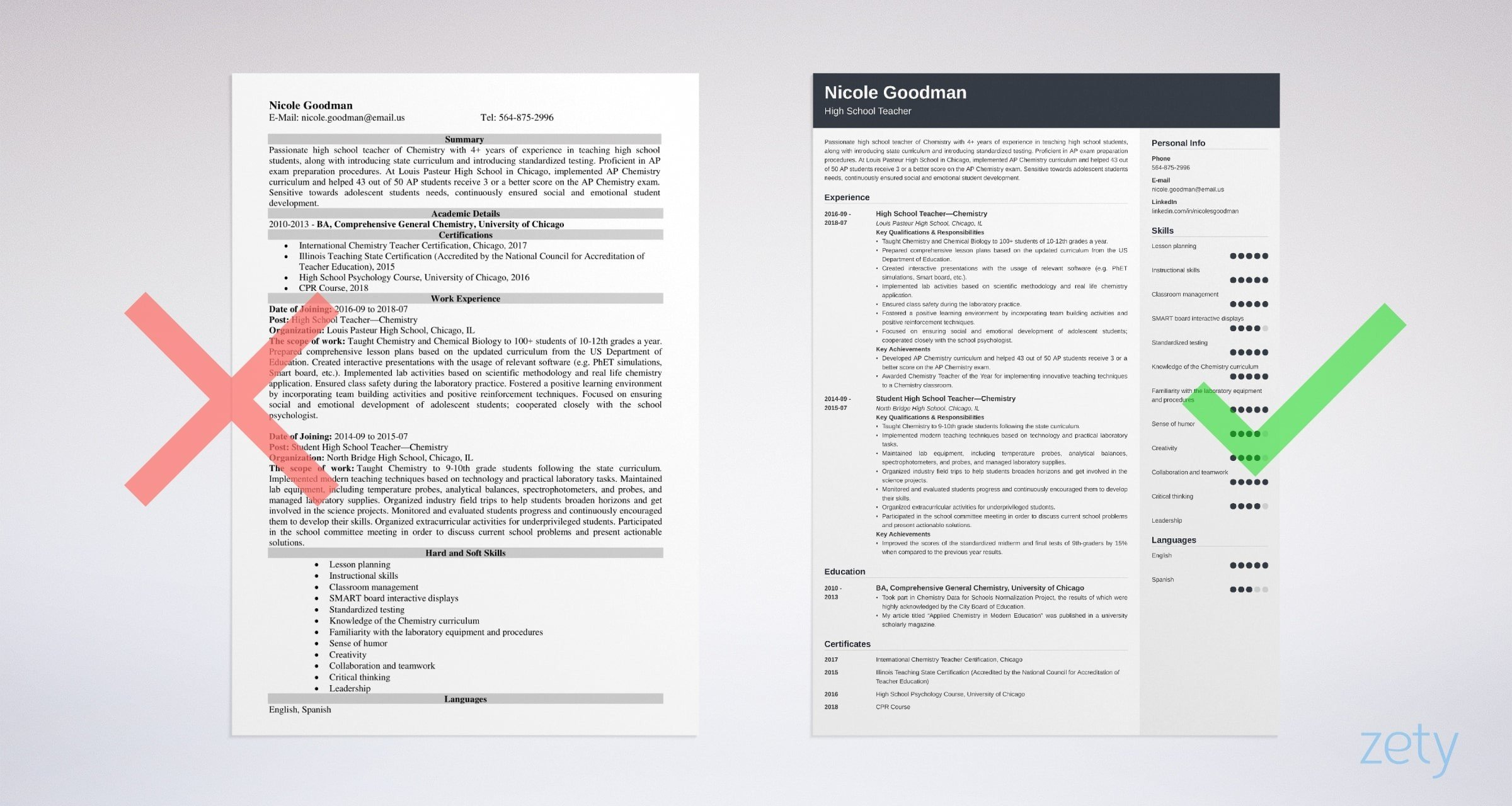 High School Teacher Resume Examples Template Amp Guide