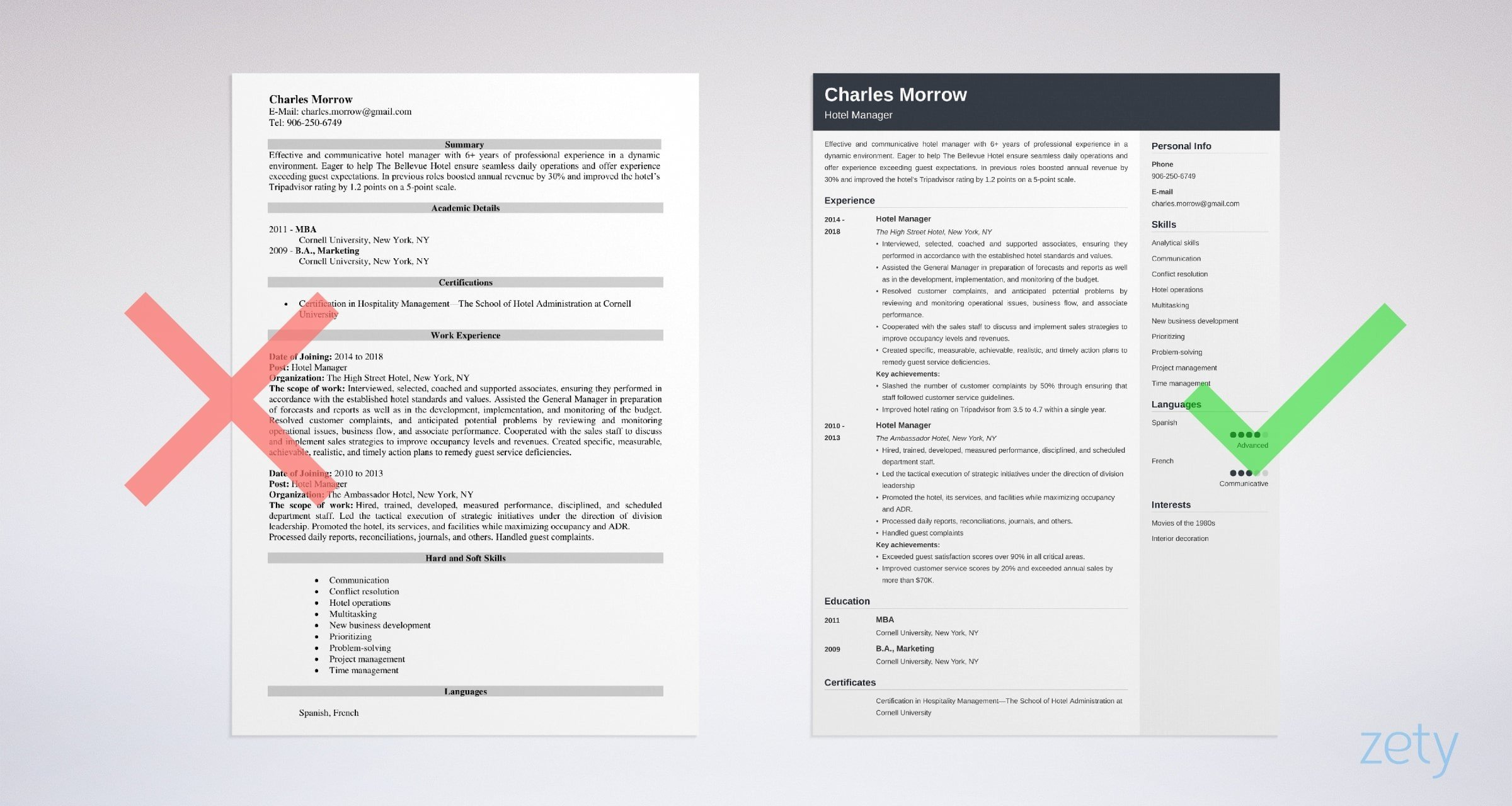 Hotel Manager Resume Sample Amp Writing Guide 20 Tips