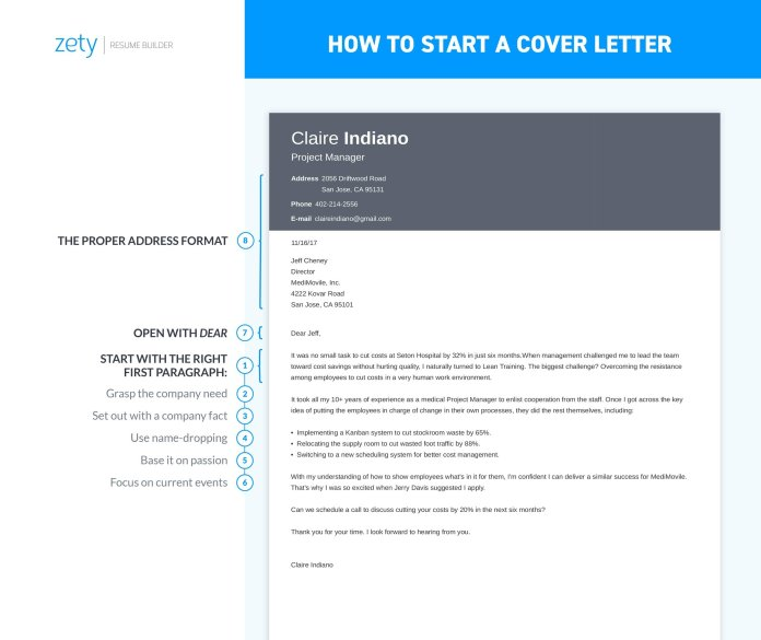 How To Start A Cover Letter Introduction 25 Opening Lines