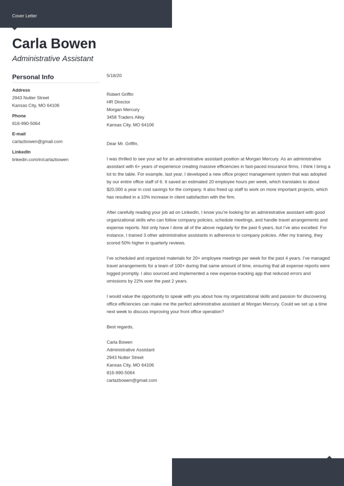 Write A Killer Cover Letter With 5 Tips Examples
