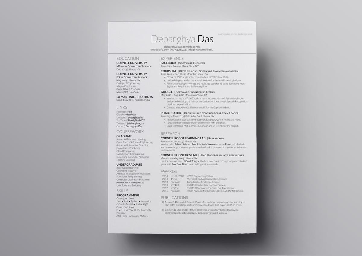 10 Best Free LaTeX ResumeCV Templates To Download Top Picks