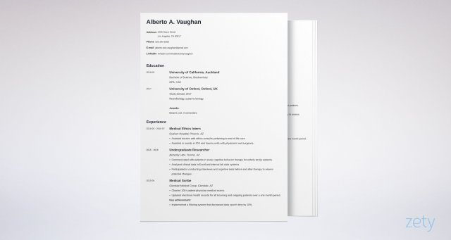 Medical Student CV Example (Template & Guide)