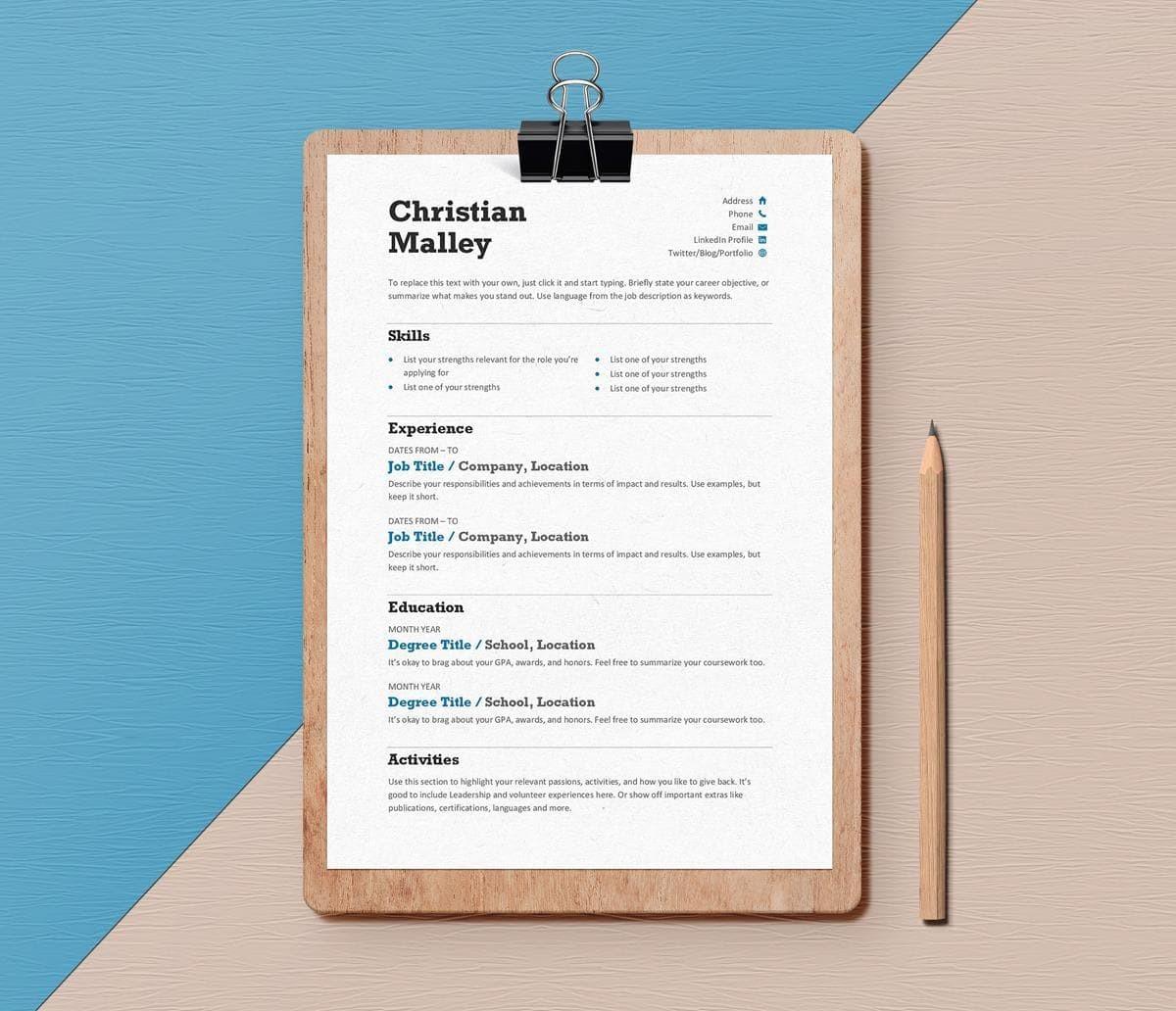 15 Minimalist Resume Templates Clean Amp Sleek Design