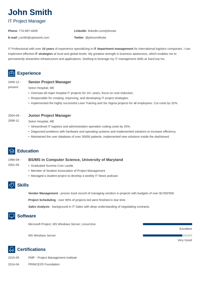 Blank Resume Templates Forms To Fill