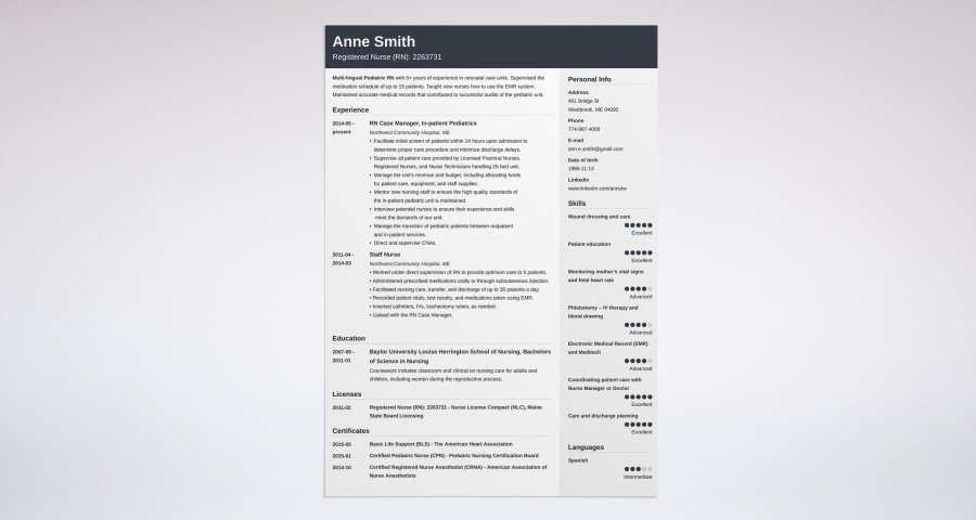 Nursing Resume  Sample   Complete Guide  20  Examples