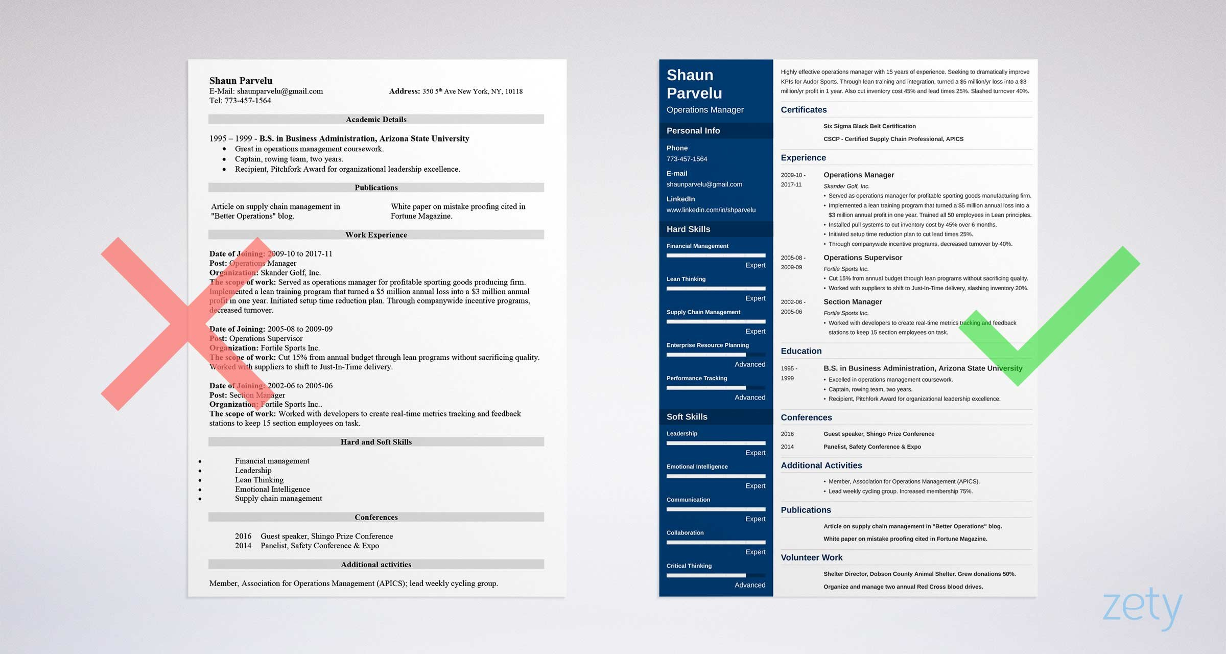 Operations Manager Resume Examples Amp Writing Guide
