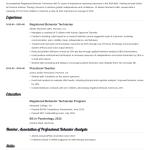 Rbt Resume Registered Behavior Tech Examples Guide