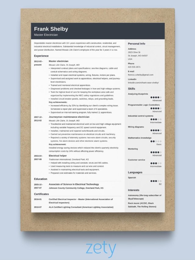 The Perfect Resume Format 11: Samples For All Types Of Resumes