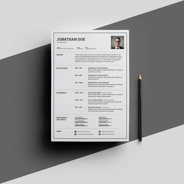 Resume Templates for Word  FREE   15  Examples for Download free resume template for microsoft word with universal layout