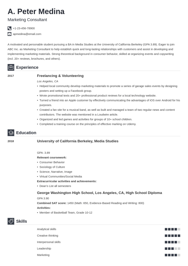 How to Write a Resume with No Experience & Get the First Job