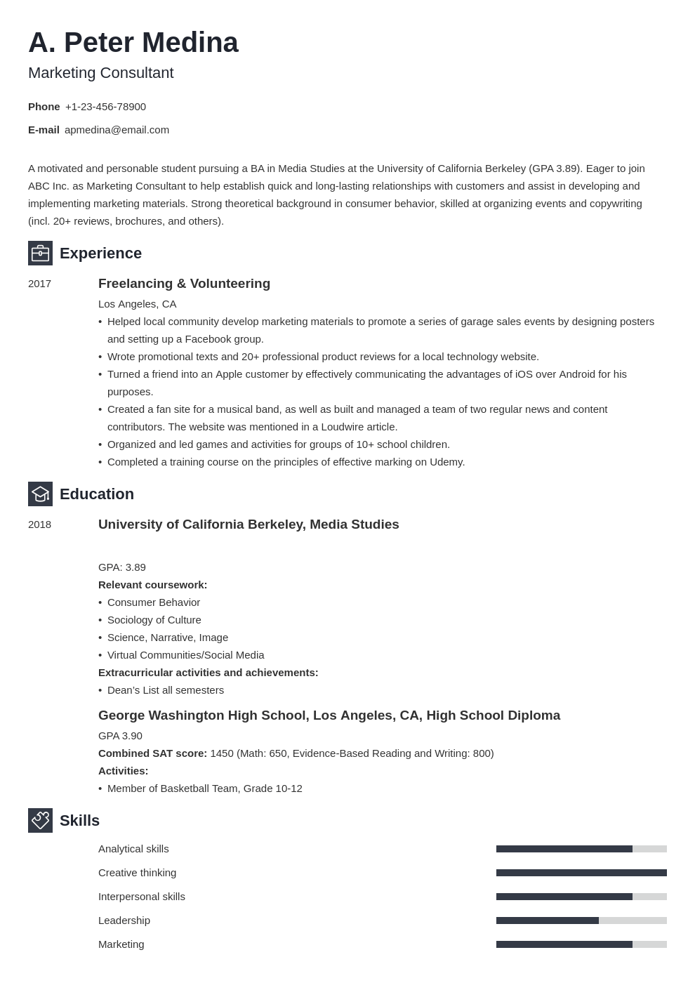 Resume For Teenager First Job : First Cv Template Resume Teenagers