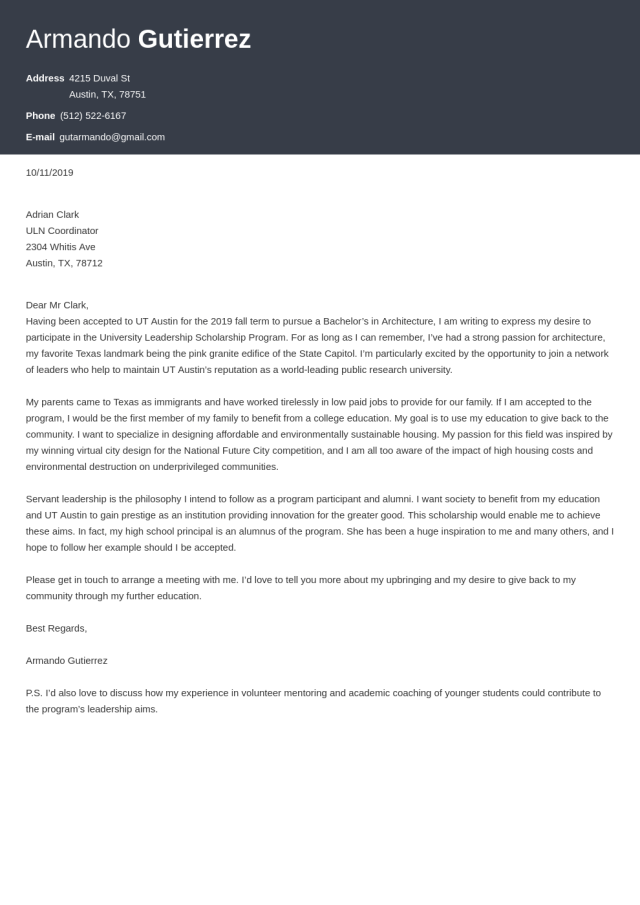 Cover Letter for Scholarship Application (Template & 25 Tips)