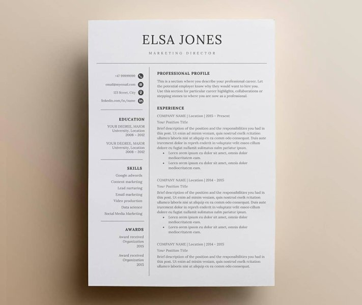 images for simple resume