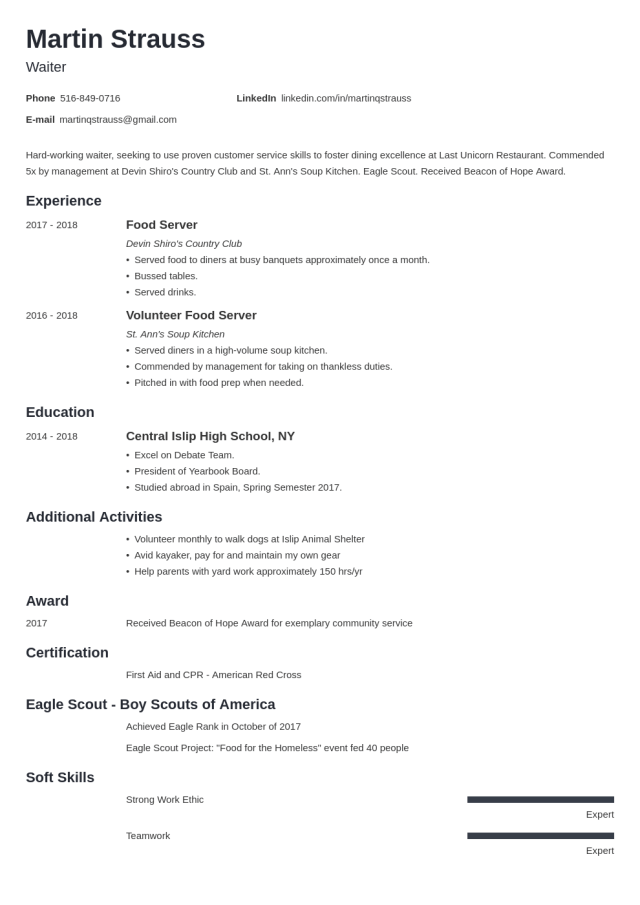 Resume Examples for Teens: Templates, Builder & Guide [Tips]
