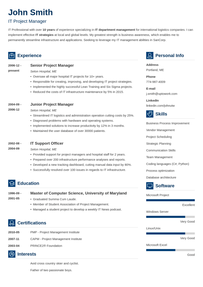 20 Professional Resume Templates For