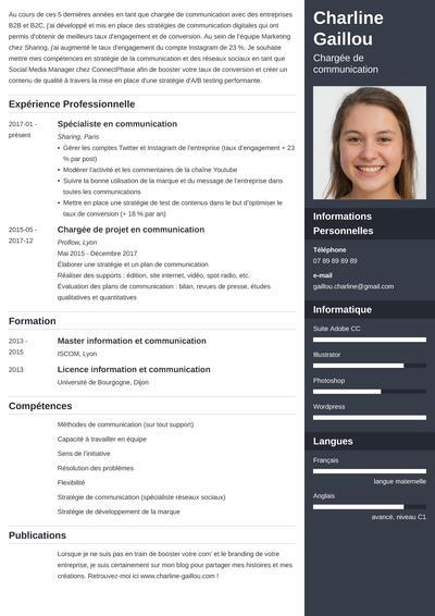 Exemple De Cv Communication Original Charge Responsable
