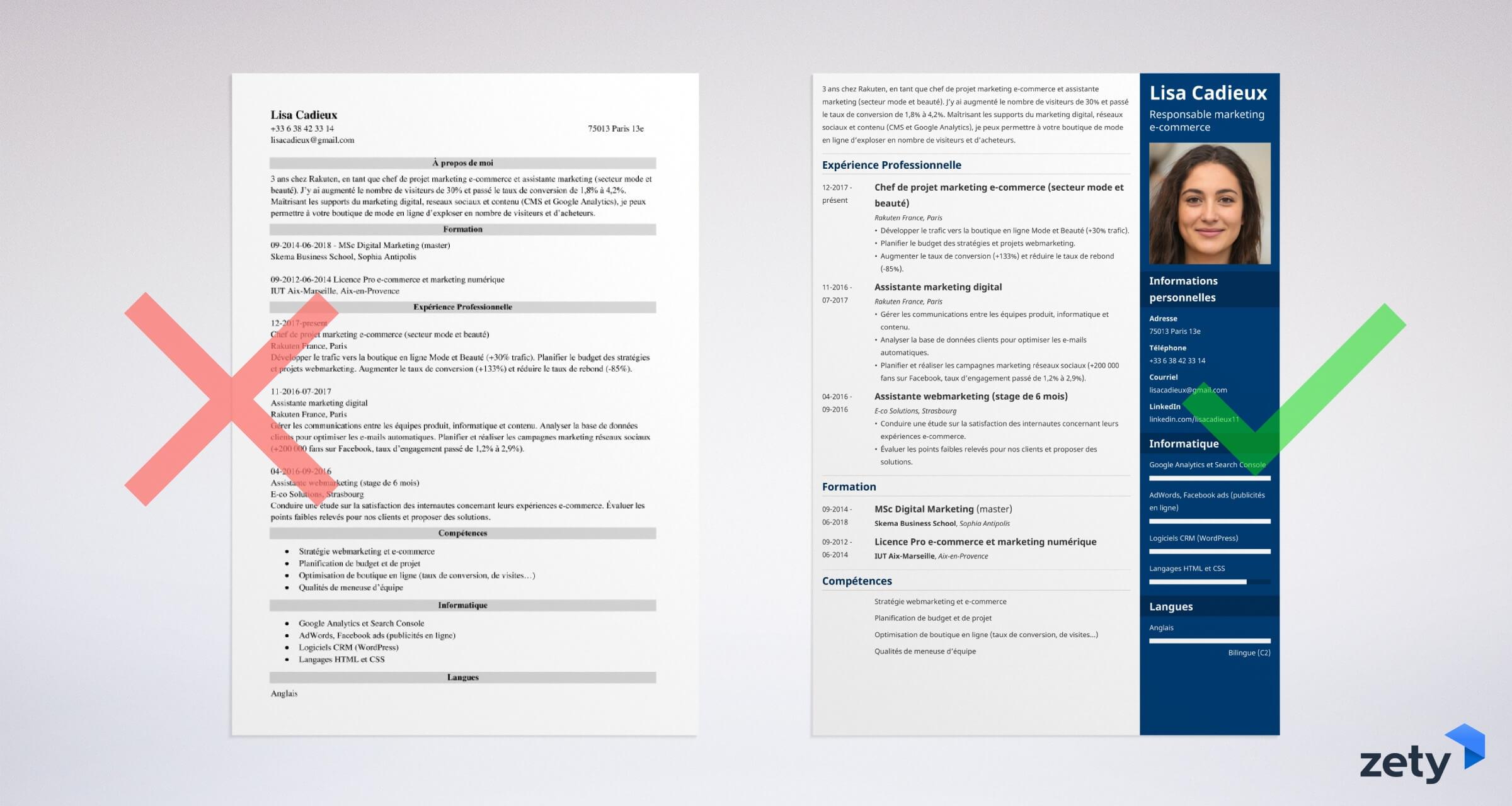 Exemple De Cv Etudiant Pour Un Job Sans Experience Modele