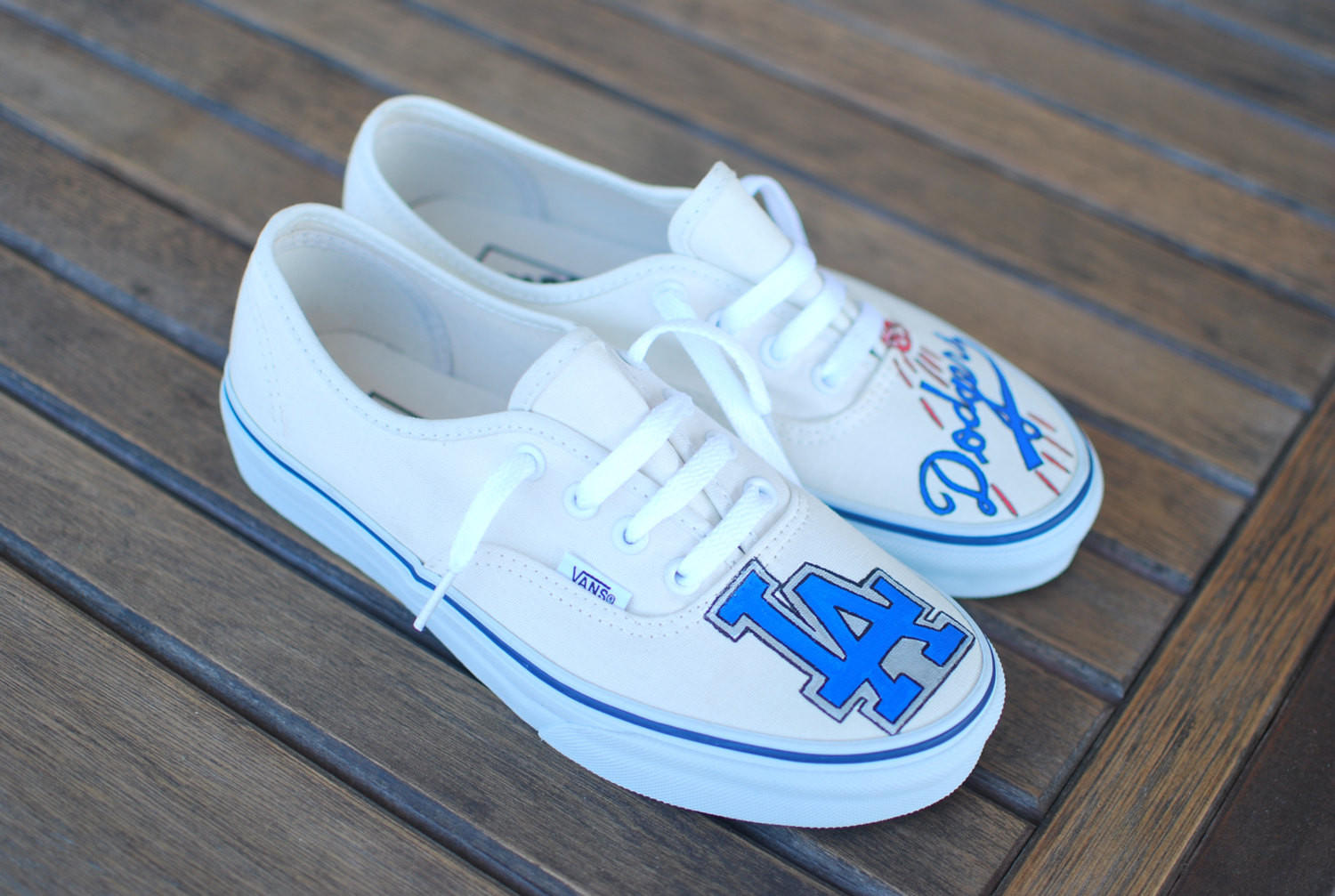 Custom Hand Painted Los Angeles Dodgers From Bstreetshoes