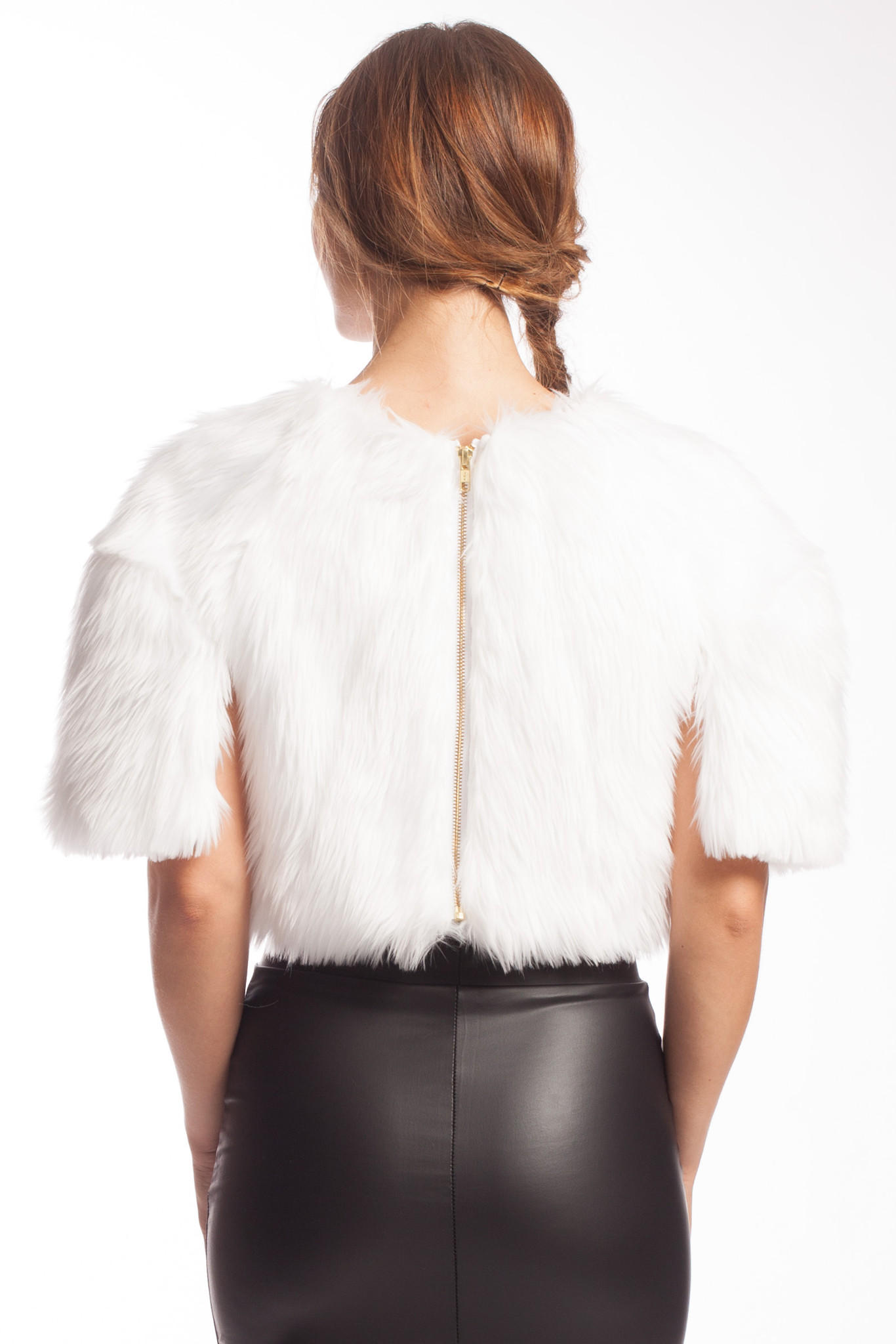 Pope Crop Top With Faux Fur From Seneca Amp Spruce 90s