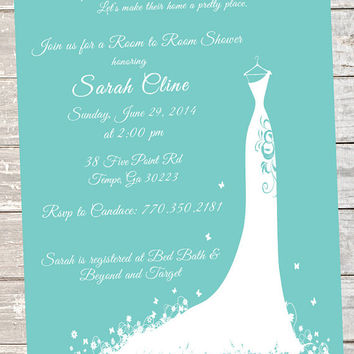 Lace Bridal Shower Invitation Tiffany Blue And Grey Elegant Printed On Luxury