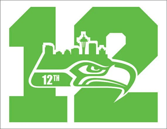 2 PACK Of Seattle Seahawks 12 Man NUMBER From TheDecalKing On