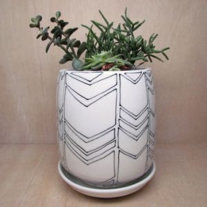 Black And White Planter   Interior Design Ideas Best Large Ceramic Planters Products On Wanelo