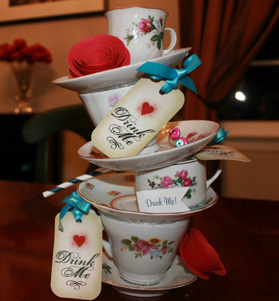Stackable Teacups Amp Teapot Centerpiece 3 From