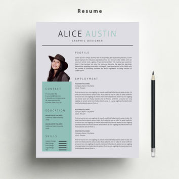 matching resume and cover letter templates   Haci saecsa co resume template with free matching cover from marufstudio on etsy