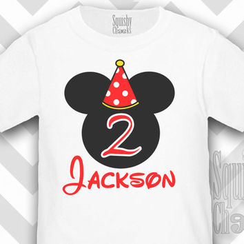 Mickey Mouse Birthday Shirt 2 Shop Clothing Shoes Online