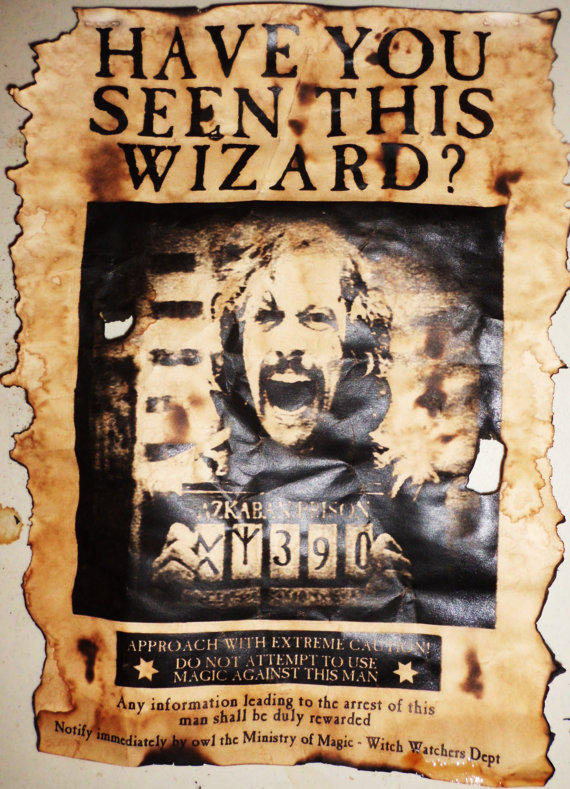Aged Harry Potter Sirius Black Wanted From HallOfRelics On