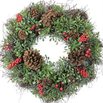 Best Red Berry Wreath Products On Wanelo