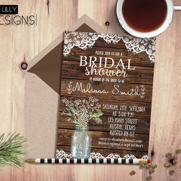 Best Rustic Country Bridal Shower S On Wanelo Wedding Invitations