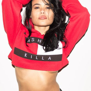 Fashion Killa Crop Hoodie from outfitmade com Fashion Killa Crop Hoodie