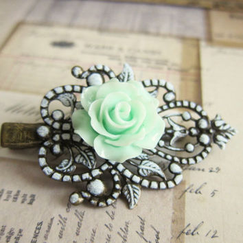 Best Mint Green Hair Flower Products On Wanelo