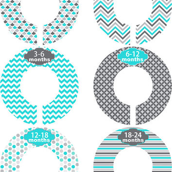 Custom Baby Closet Dividers Girl Boy Teal From Little Lillybug