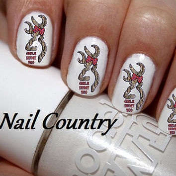 50pc Country Browning Deer S Hunt Too Redneck Nail Decals Art Stickers Best