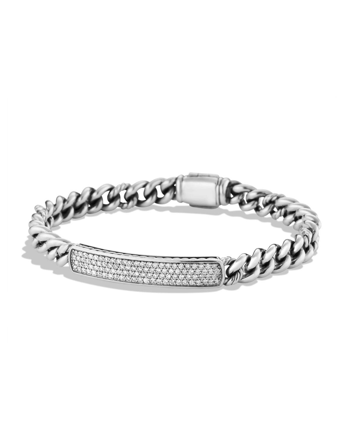 Petite Pave Id Bracelet With From Neiman Marcus