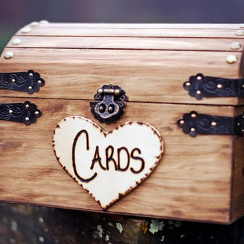 Shabby Chic And Rustic Wooden Card Box Wedding Decor