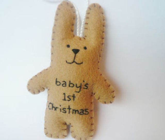 Baby Shower Gift St Christmas Bunny Felt Animal Tree Ornament Decoration Shower Girl Boy First