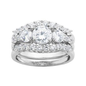 DiamonArt     Sterling Silver Bridal Ring from JCPenney DiamonArt     Sterling Silver Bridal Ring Set   JCPenney