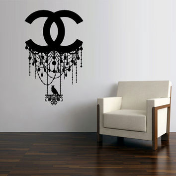Wall Decal Vinyl Sticker Decals Art Decor Design Chandelier Er Chanel Bird Logo Li
