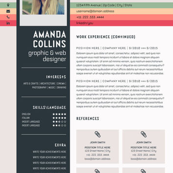 resume template word modern resume template professional creative