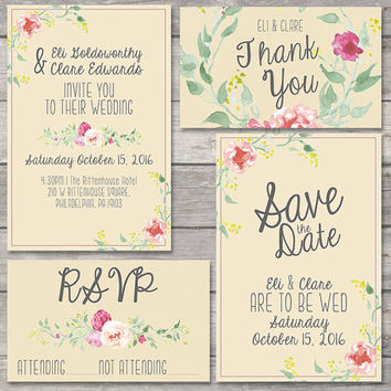Ruby Wedding Invitation Setting Your Rsvp Date