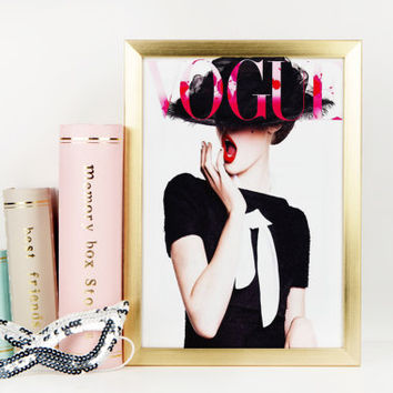 Cute Vogue Magazine Wall Decor And Also Art On Wanelo