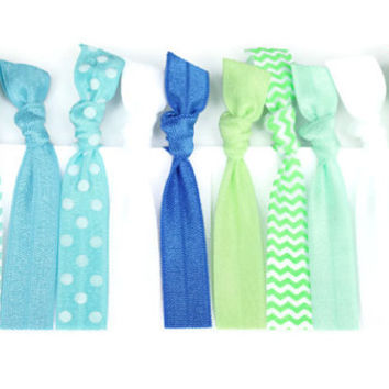 blue green ombre hair ties 12 knot from preppypieceshairties