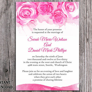 Best Pink Rose Wedding Invitations Products On Wanelo