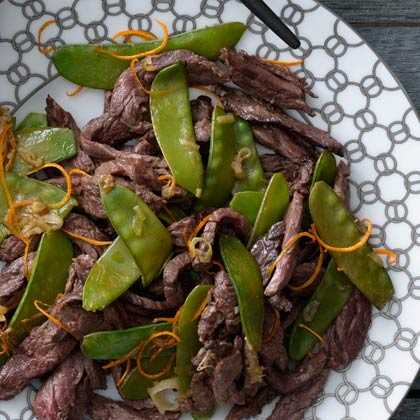 tangerine beef with snow peas xl Tangerine Beef With Snow Peas